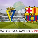 Cadice Barcellona cronaca diretta live risultato in tempo reale