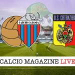 Catania Catanzaro cronaca diretta live risultato in tempo reale