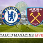 Chelsea West Ham cronaca diretta live risultato in tempo reale