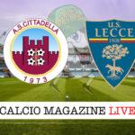 Cittadella Lecce cronaca diretta live risultato in tempo reale