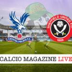 Crystal Palace Sheffield United cronaca diretta live risultato in tempo reale