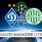 Dinamo Kiev Ferencvaros cronaca diretta live risultato in tempo reale