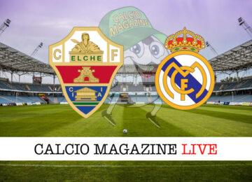Elche Real Madrid cronaca diretta live risultato in tempo reale