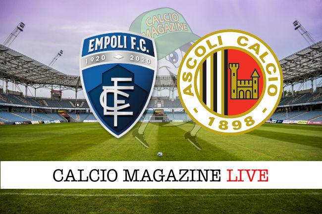 Empoli Ascoli cronaca diretta live risultato in tempo reale