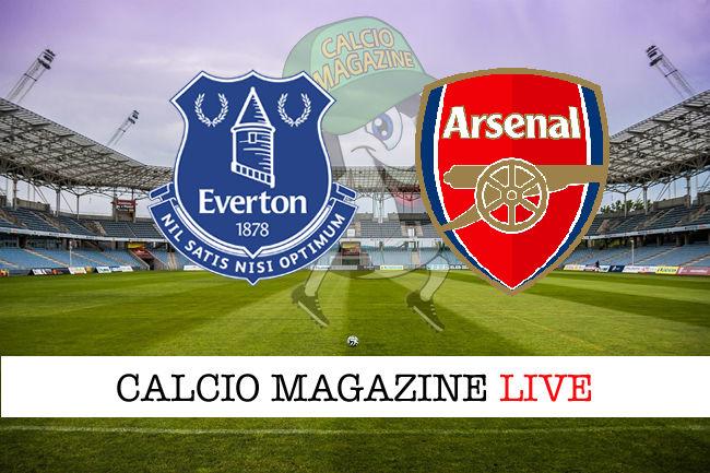 Everton Arsenal cronaca diretta live risultato in tempo reale
