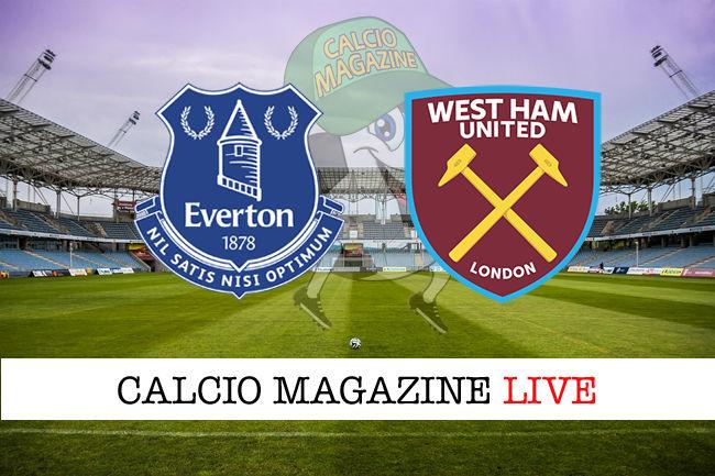 Everton West Ham cronaca diretta live risultato in tempo reale