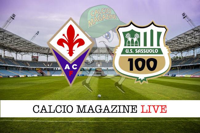 Fiorentina Sassuolo cronaca diretta live risultato in tempo reale