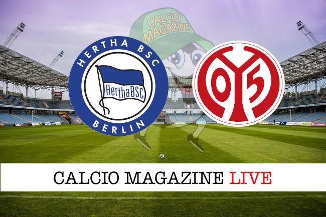 Hertha Berlino Mainz cronaca diretta live risultato in tempo reale