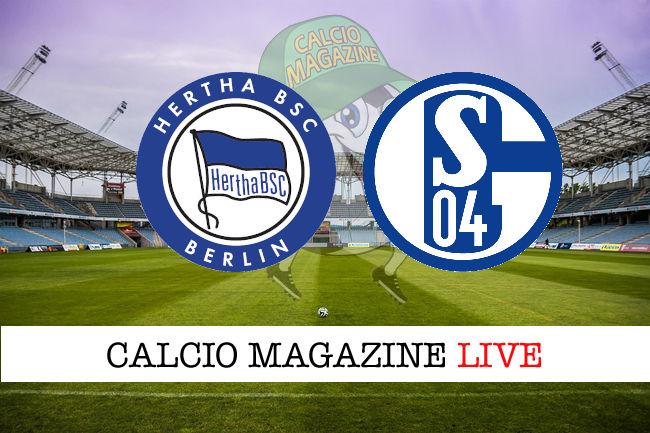 Hertha Berlino Schalke 04 cronaca diretta live risultato in tempo reale