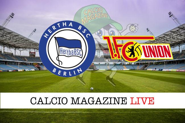 Hertha Berlino Union Berlino cronaca diretta live risultato in tempo reale