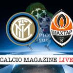 Inter Shakhtar Donetsk cronaca diretta live risultato in tempo reale