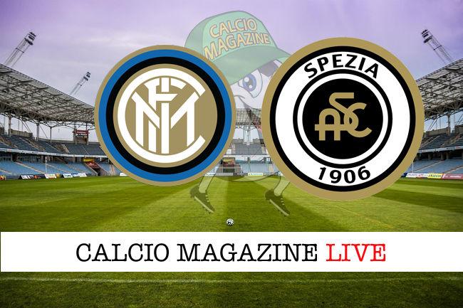 Inter Spezia cronaca diretta live risultato in tempo reale