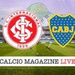 Internacional Boca Juniors cronaca diretta live risultato in tempo reale