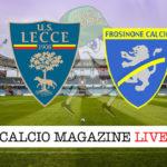 Lecce Frosinone cronaca diretta live risultato in tempo reale