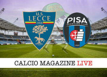 Lecce Pisa cronaca diretta live risultato in tempo reale