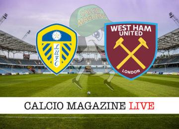Leeds West Ham cronaca diretta live risultato in tempo reale