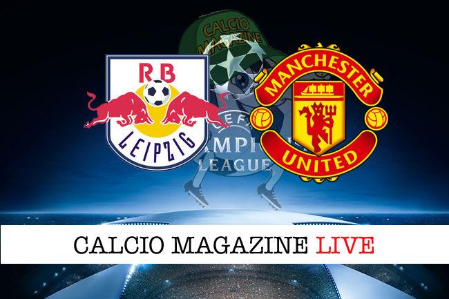 Lipsia Manchester United cronaca diretta live risultato in tempo reale