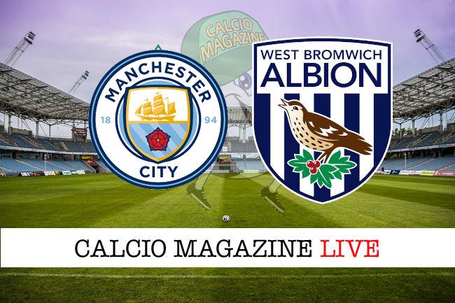 Manchester City West Bromwich cronaca diretta live risultato in tempo reale