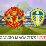 Manchester United Leeds cronaca diretta live risultato in tempo reale