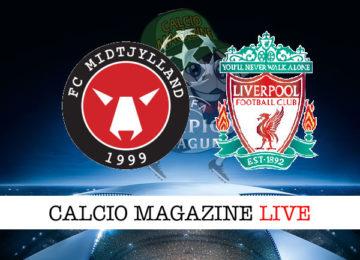 Mitjylland Liverpool cronaca diretta live risultato in tempo reale