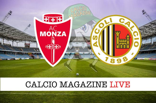 Monza Ascoli cronaca diretta live risultato in tempo reale