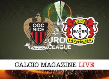 Nizza Bayer Leverkusen cronaca diretta live risultato in tempo reale