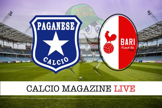 Paganese Bari cronaca diretta live risultato in tempo reale