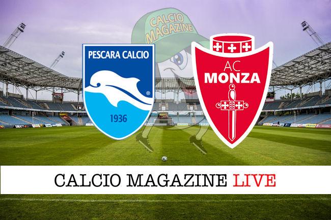 Pescara Monza cronaca diretta live risultato in tempo reale
