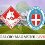 Piacenza Novara cronaca diretta live risultato in tempo reale