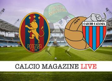 Potenza Catania cronaca diretta live risultato in tempo reale