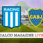 Racing Club Boca Juniors cronaca diretta live risultato in tempo reale