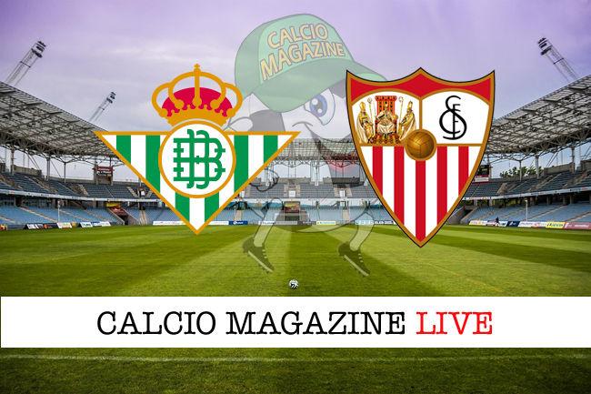 Real Betis Siviglia cronaca diretta live risultato in tempo reale