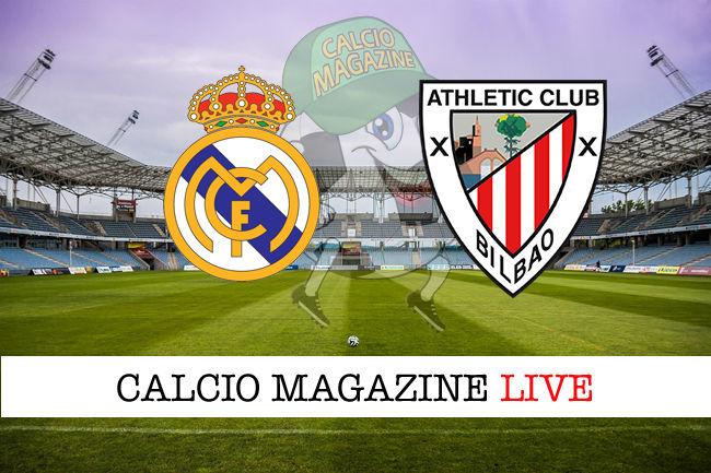 Real Madrid Athletic Bilbao cronaca diretta live risultato in tempo reale