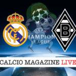 Real Madrid M'Gladbach cronaca diretta live risultato in tempo reale
