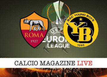 Roma Young Boys cronaca diretta live risultato in tempo reale