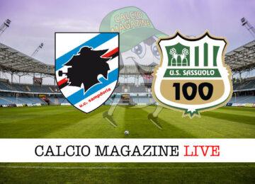 Sampdoria Sassuolo cronaca diretta live risultato in tempo reale