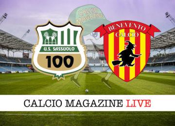 Sassuolo Benevento cronaca diretta live risultato in tempo reale