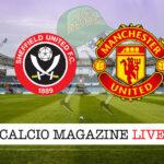 Sheffield United Manchester United cronaca diretta live risultato in tempo reale
