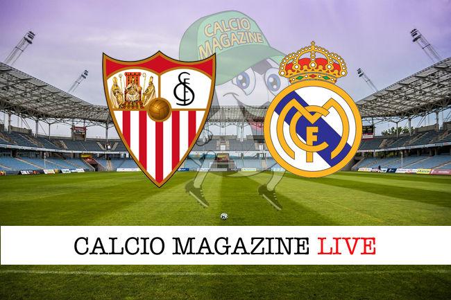 Siviglia Real Madrid cronaca diretta live risultato in tempo reale