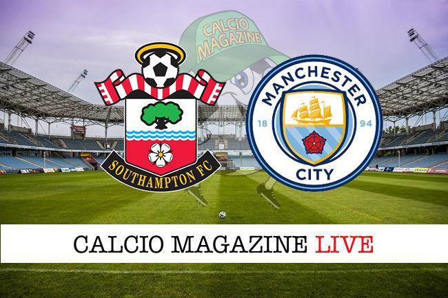 Southampton Manchester City cronaca diretta live risultato in tempo reale