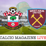 Southampton West Ham cronaca diretta live risultato in tempo reale