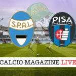 SPAL Pisa cronaca diretta live risultato in tempo reale