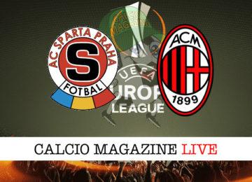 Sparta Praga Milan cronaca diretta live risultato in tempo reale