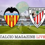 Valencia Athletico Bilbao cronaca diretta live risultato in tempo reale