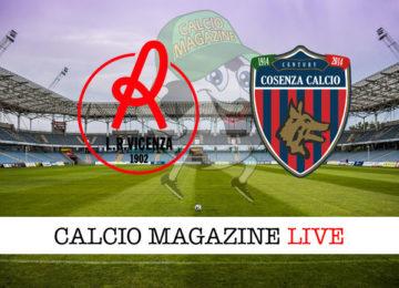 Vicenza Cosenza cronaca diretta live risultato in tempo reale