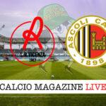 Vincenza Ascoli cronaca diretta live risultato in tempo reale