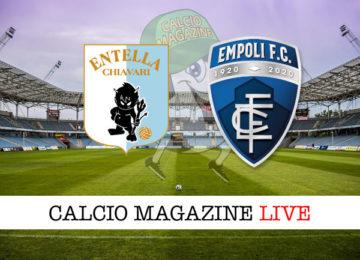 Virtus Entella Empoli cronaca diretta live risultato in tempo reale
