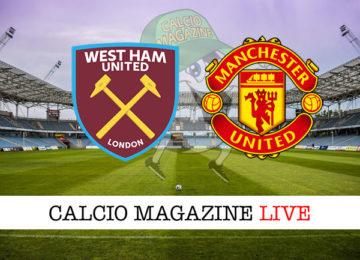 West Ham Manchester United cronaca diretta live risultato in tempo reale