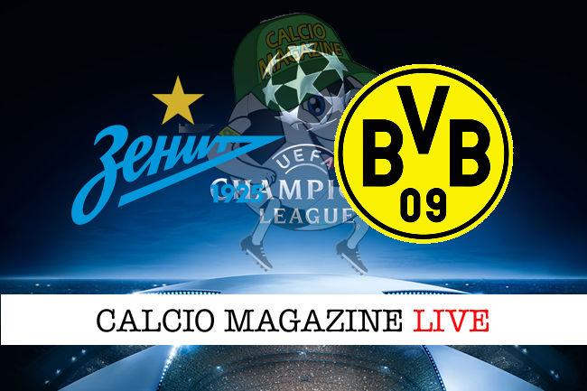 Zenit Borussia Dortmund cronaca diretta live risultato in tempo reale