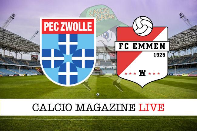 Zwolle FC Emmen cronaca diretta live risultato in tempo reale